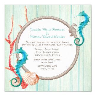 Invitación elegante del boda de la cabaña de la