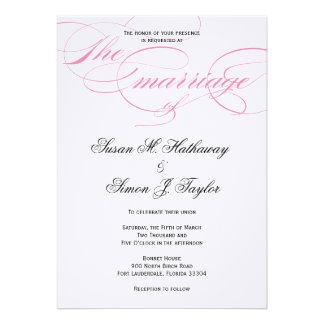 Invitación elegante del boda de la escritura - ros