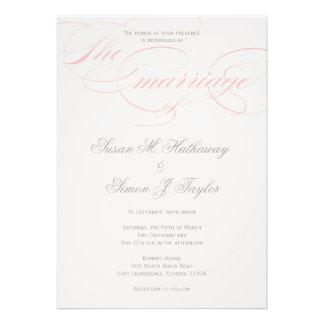 Invitación elegante del boda de la escritura - se