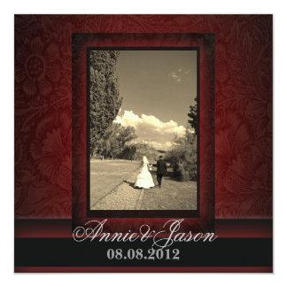Invitación elegante del boda de la foto del invitación 13,3 cm x 13,3cm