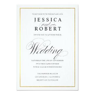 Invitación elegante del boda de la frontera de la