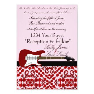 Invitación elegante del boda de la guitarra