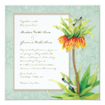 Invitación elegante del boda de la libélula del