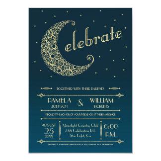 Invitación elegante del boda de la luna