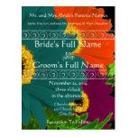 Invitación elegante del boda de la margarita de postal