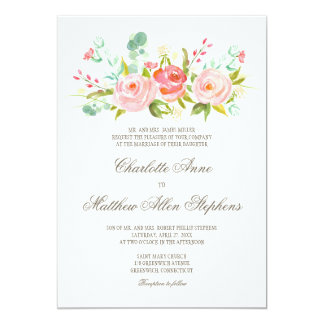 Invitación elegante del boda de la rosaleda
