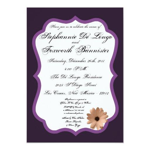 invitación elegante del boda de la suposición