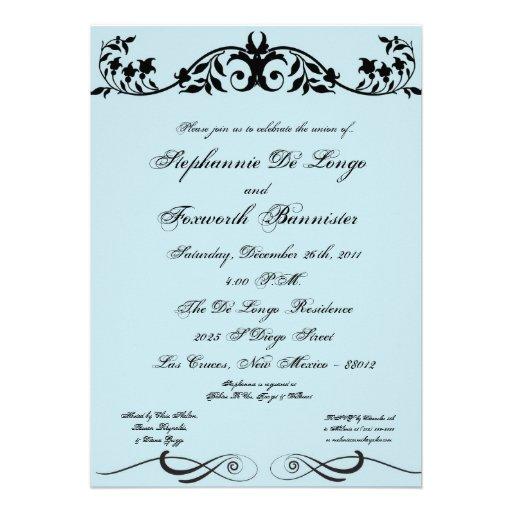 invitación elegante del boda de la suposición flor