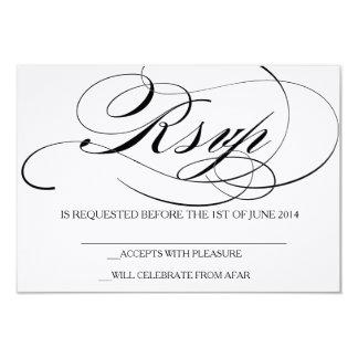 Invitación elegante del boda de la tarjeta de RSVP
