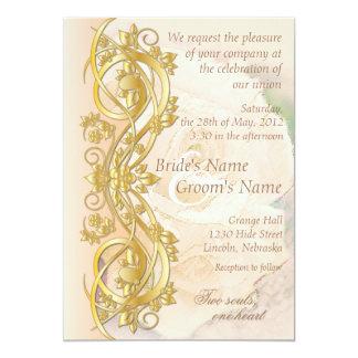 Invitación elegante del boda de la voluta -
