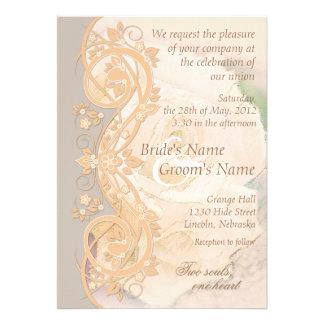 Invitación elegante del boda de la voluta - meloco