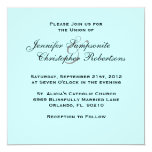 Invitación elegante del boda de los azules cielos