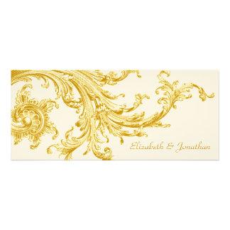 Invitación elegante del boda del barrido del oro