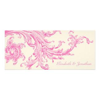 Invitación elegante del boda del barrido del rosa