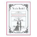 Invitación elegante del boda del boleto del
