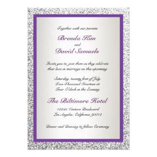 Invitación elegante del boda del brillo