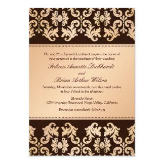 Invitación elegante del boda del ensueño del otoño invitación 12,7 x 17,8 cm