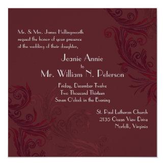 Invitación elegante del boda del Flourish de