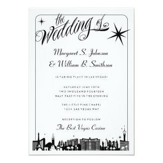 Invitación elegante del boda del horizonte de la