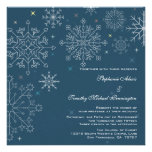 Invitación elegante del boda del invierno del copo