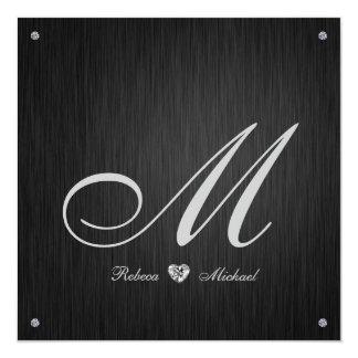 Invitación elegante del boda del monograma del invitación 13,3 cm x 13,3cm