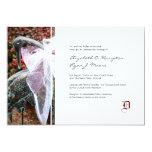 Invitación elegante del boda del pájaro del jardín
