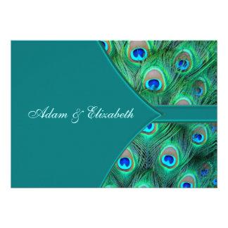 Invitación elegante del boda del pavo real del pav