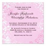 Invitación elegante del boda del rosa lindo del