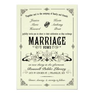 Invitación elegante del boda del vintage