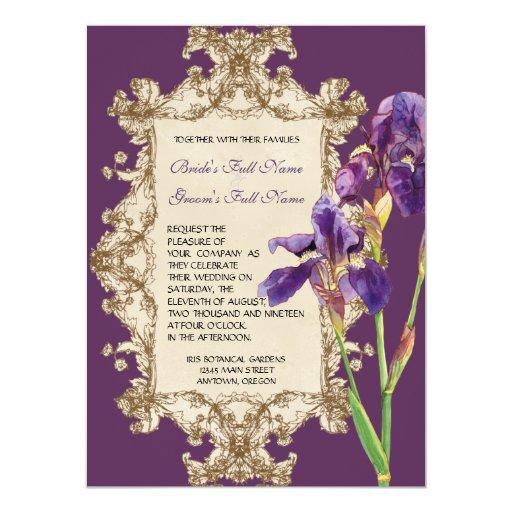 Invitación elegante del boda - iris elegante