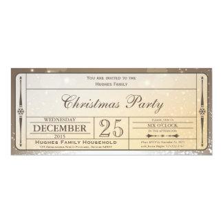 Invitación elegante del boleto de la fiesta de invitación 10,1 x 23,5 cm