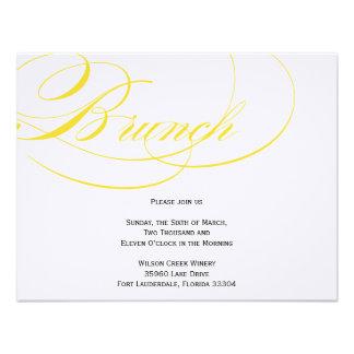 Invitación elegante del brunch de la escritura - a
