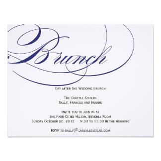 Invitación elegante del brunch de la escritura - m