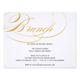 Invitación elegante del brunch de la escritura - o