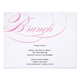 Invitación elegante del brunch de la escritura - r