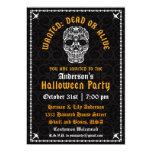 Invitación elegante del cráneo de Halloween