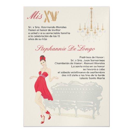 invitación elegante del cumpleaños de Quinceanera