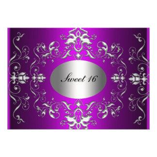 Invitación elegante del cumpleaños del dulce 16 pú