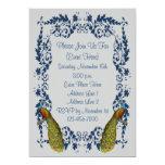 Invitación elegante del diseño de la plata del invitación 12,7 x 17,8 cm
