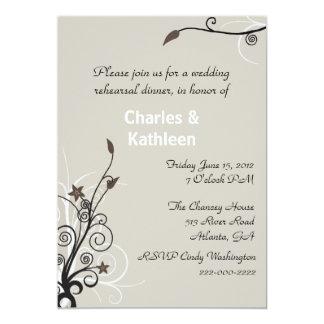 Invitación elegante del ensayo del boda