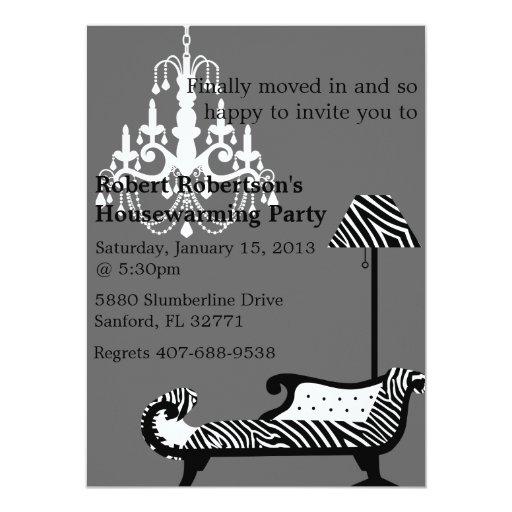 Invitación elegante del estreno de una casa