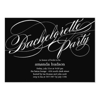 Invitación elegante del fiesta de Bachelorette de