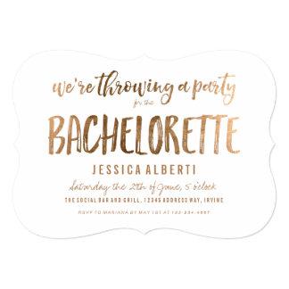 Invitación elegante del fiesta de Bachelorette del