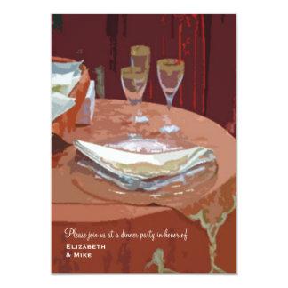 Invitación elegante del fiesta de cena de la tabla