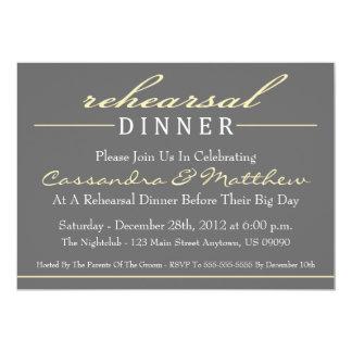 Invitación elegante del fiesta de cena del ensayo