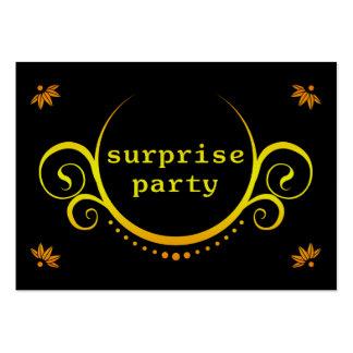 invitación elegante del fiesta de sorpresa tarjetas de visita grandes