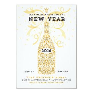 Invitación elegante del fiesta del Año Nuevo 2016
