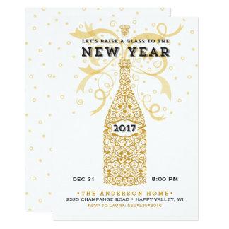 Invitación elegante del fiesta del Año Nuevo 2017