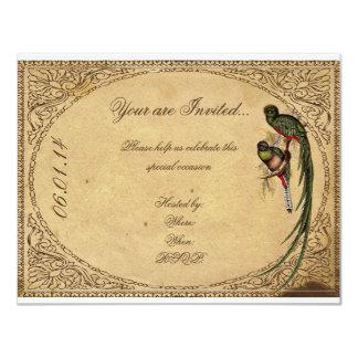 Invitación elegante del fiesta del pájaro de