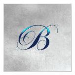 Invitación elegante del monograma invitación 13,3 cm x 13,3cm